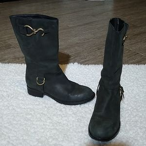 Cole Haan Tantivy Leather Moto Riding Boots 7.5B